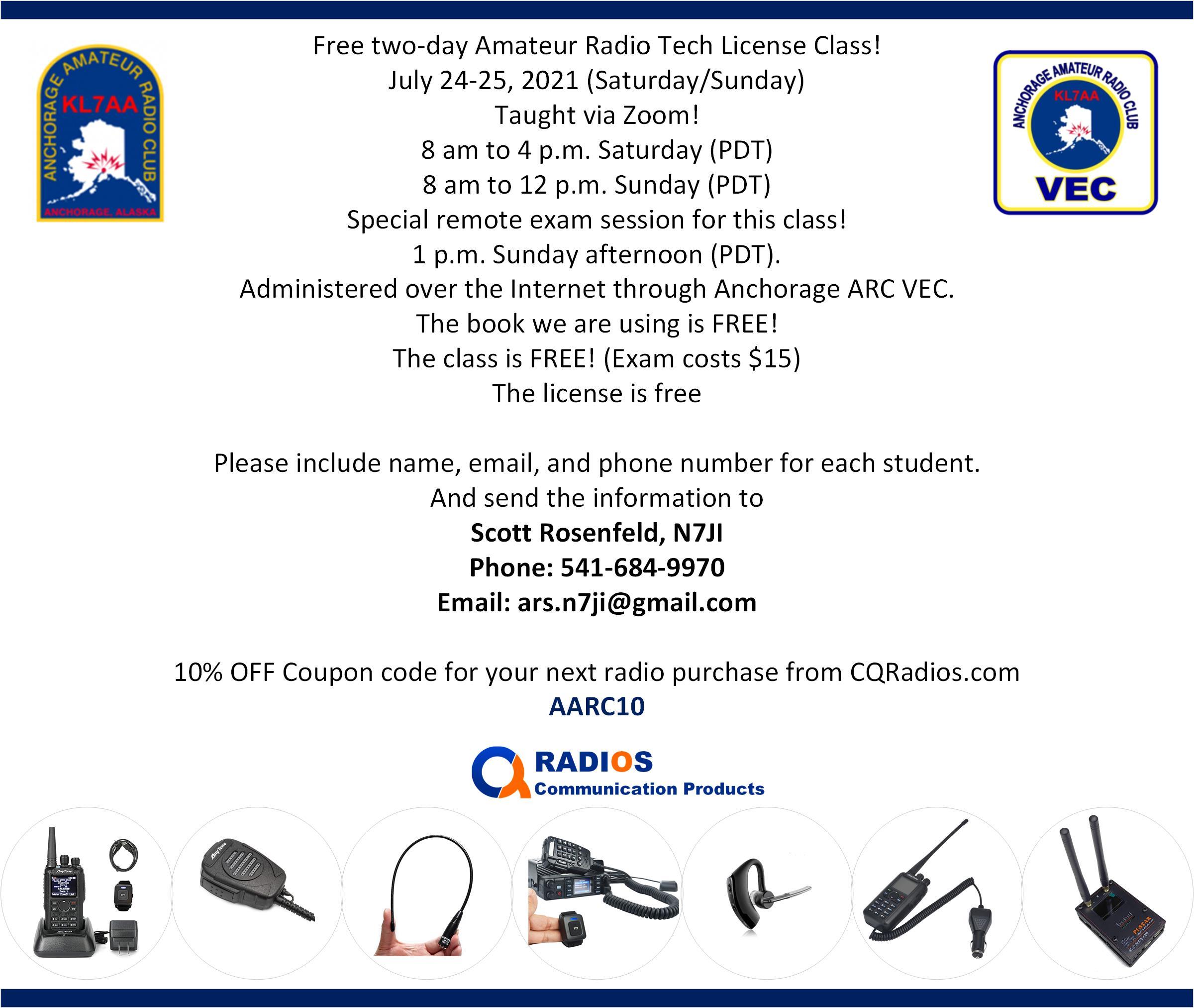 Amateur radio test class